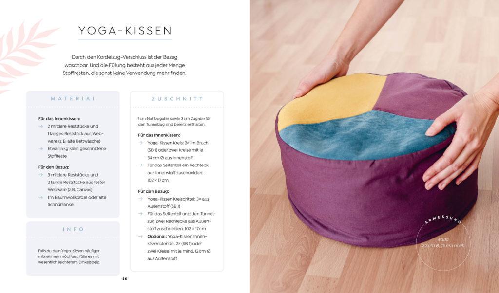 Buch: Einfach nachhaltig nähen – Projekt Yoga-Kissen aus Resten und mit Restefüllung