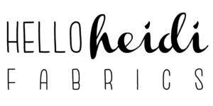 Logo Hello Heidi Fabrics