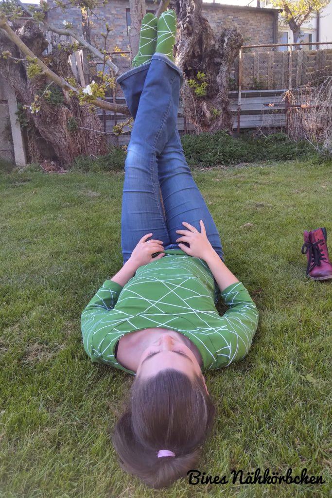 LaMarina Shirt von pedilu   Designbeispiel von Eines Nähkörbchen   Grünes 3/4-Shirt