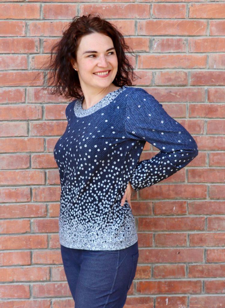 LaMarina Shirt von pedilu   Designbeispiel von juhu naeht   Shirt mit Glitzer