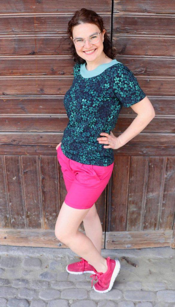 LaMarina Shirt von pedilu   Designbeispiel von juhu naeht   Shirt mit Ausschnittblende