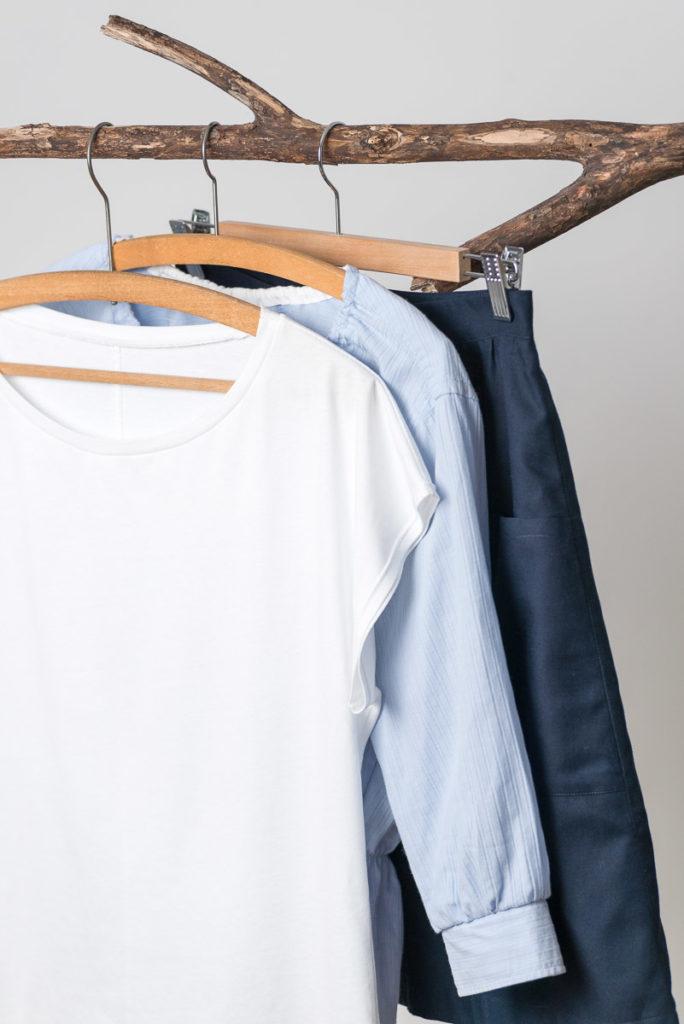 Buch: Einfach nachhaltig nähen – Slow Fashion, Kimono-Shirt, Upcycling-Bluse, Rock mit Knopfleiste