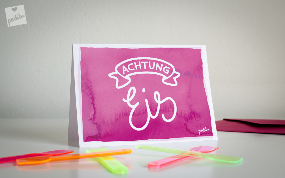 Free Printable: Achtung – Eis!