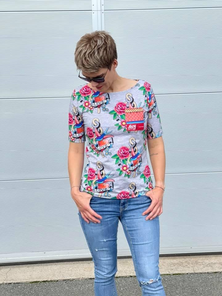 Sommerärmel für LaBreton Shirt von pedilu | Beispiel von katharina_die2te