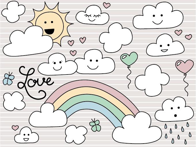Freebie: »Verliebte Wolke«