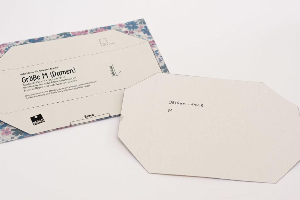 Origami-Maske | Tipps und Tricks | Schablone aus Pappe
